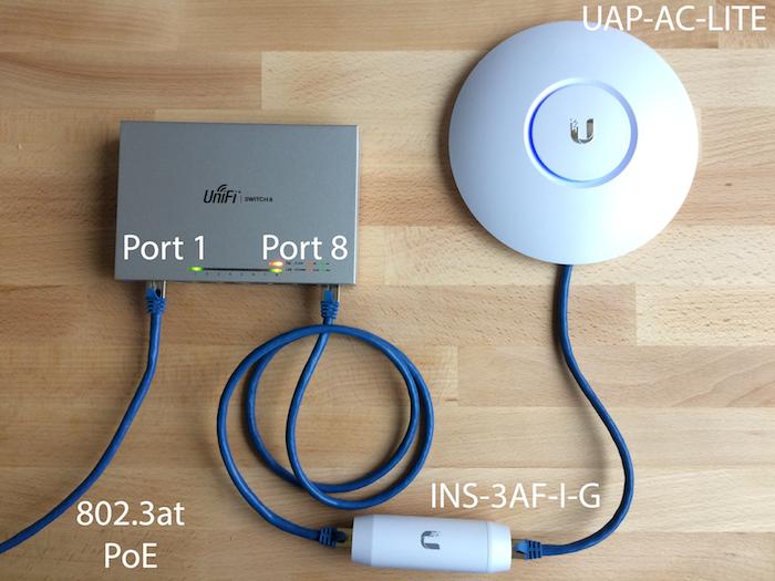 UniFi - USW: US-8 Switch ve Bağlı Cihazlara Güç Verilmesi